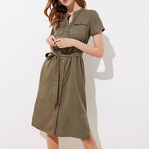 LOFT Dresses - LOFT Petite Drapey Utility Shirtdress